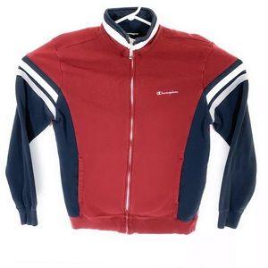 Champion Mens L Full Zip Mock Neck Fleece Sweater